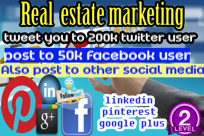 real estate marketing share project 300k twitter,facebook ,instagram people