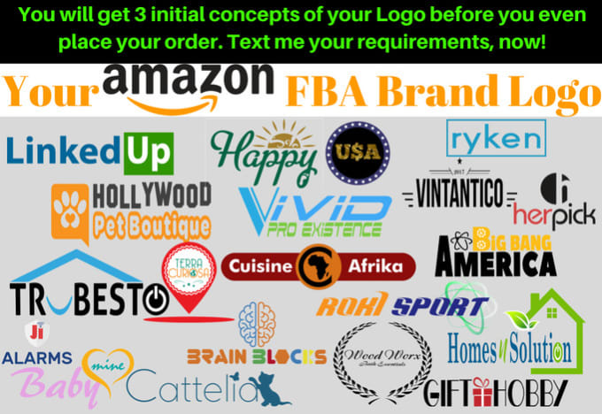 design your amazon fba private label brand logo