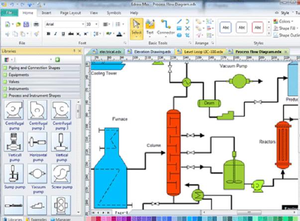 Process Flow Diagram On Ms Visio By Hiraalam