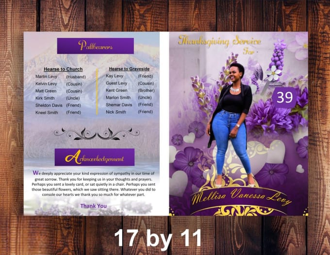 design funeral program invitations by ceyonmitchell
