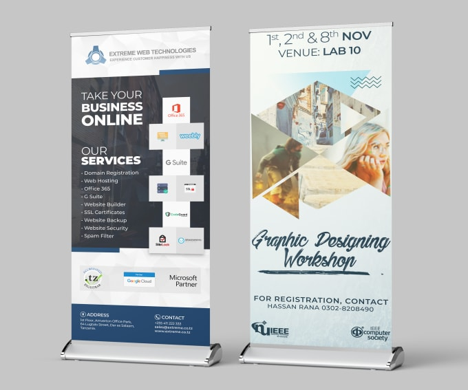 design rollup, standee and banner in 24 hours