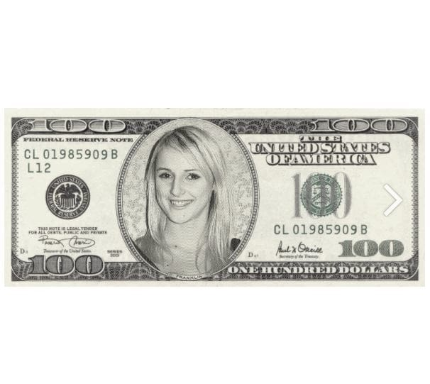 put your face on 100 dollar bill buy 1 gig get 1 free