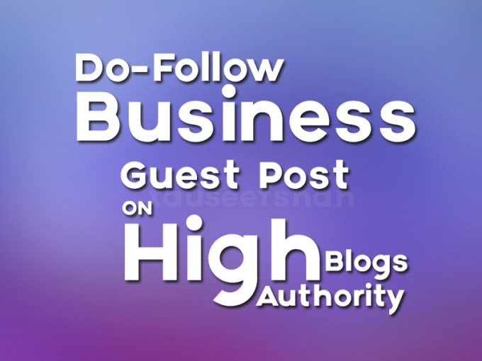 do guest post on business blog