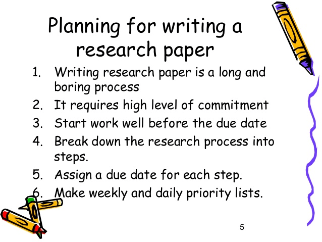 premise of a research paper