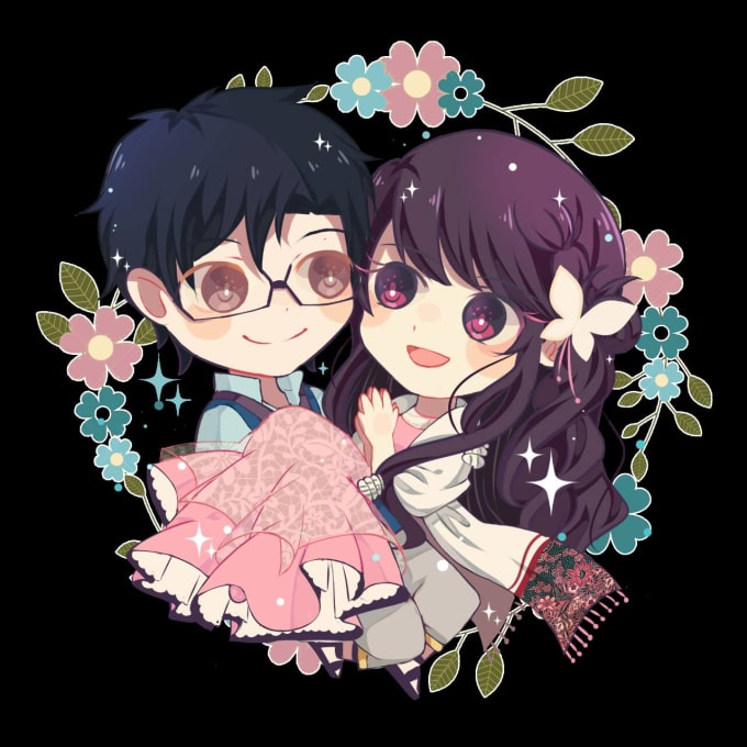 draw a chibi character in cute style