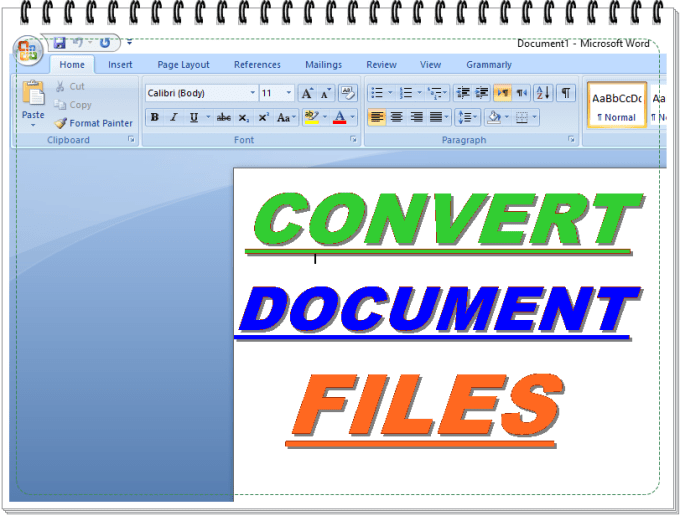 convert all documents files