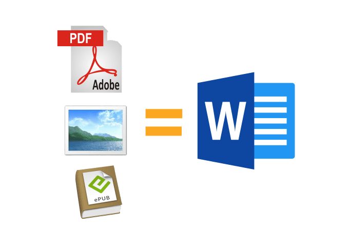 convert pdf or image to editable word document