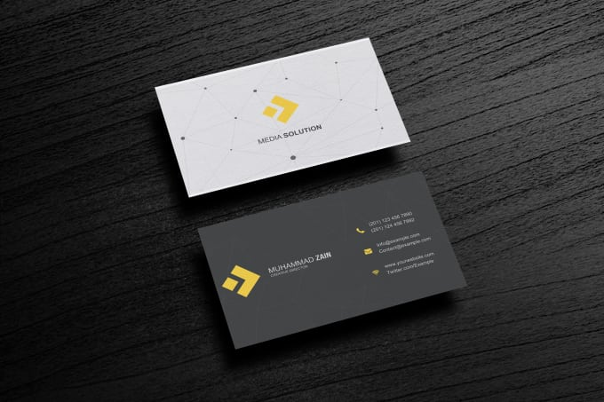 Design modern business card for you by muhammadzain09 design modern business card for you colourmoves