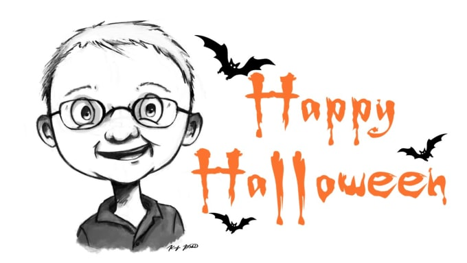 design scary halloween audio or voice greeting