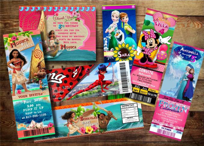 Design A Birthday Invitation Ticket Or Card