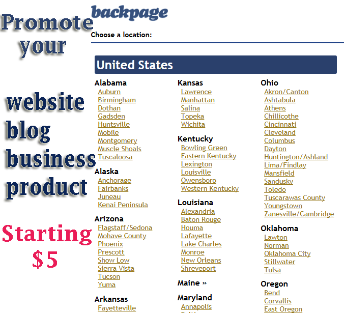 Post Your Banner Ads In 75 Cities On Backpage