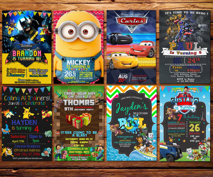 Design Your Birthday Party Invitation Card For You