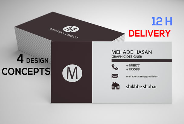 Design double sided minimal business card by mehadehasan1 design double sided minimal business card reheart Images