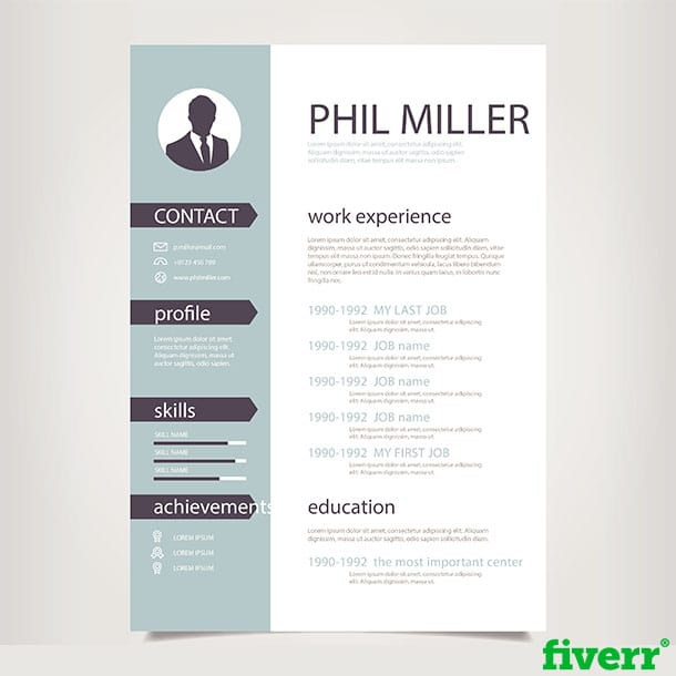 design resume cv curriculum vitae cover letter by dickyjdesigns