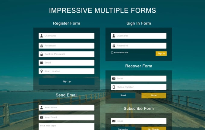Create Html Bootstrap Web Forms By Mdashikar