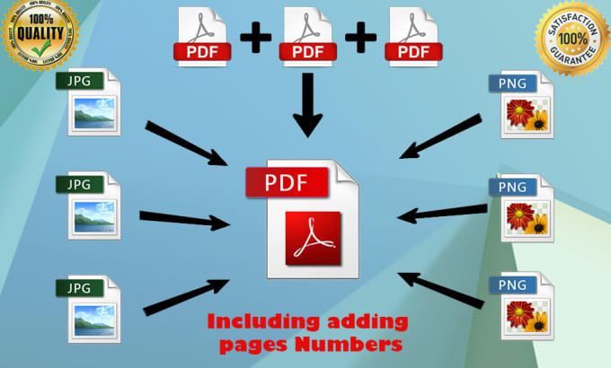 convert multiple images to PDF or the opposite way