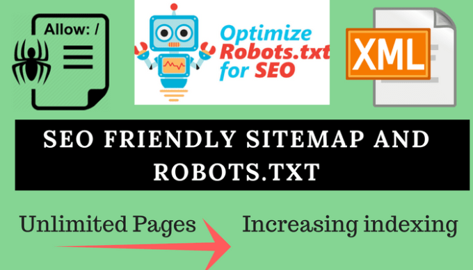 create xml sitemap and robots txt for cms and html by arizzseo