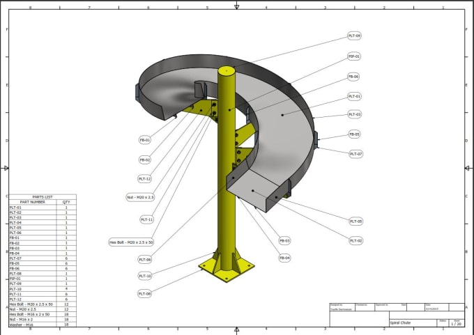 create 3d model and shop drawing for mechanical projects