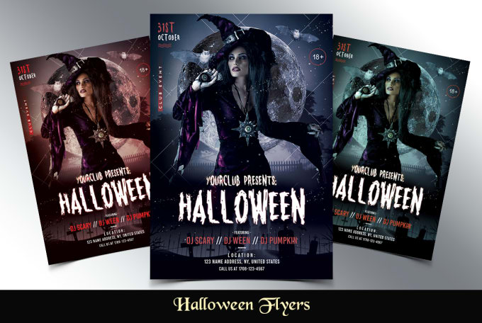 Design Halloween Flyers Or Posters