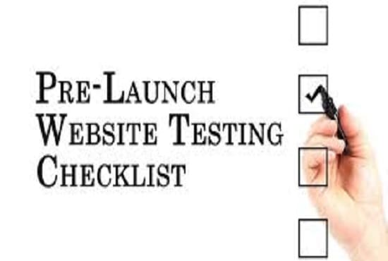Use my intuition to test, debug, and review your website for qa by