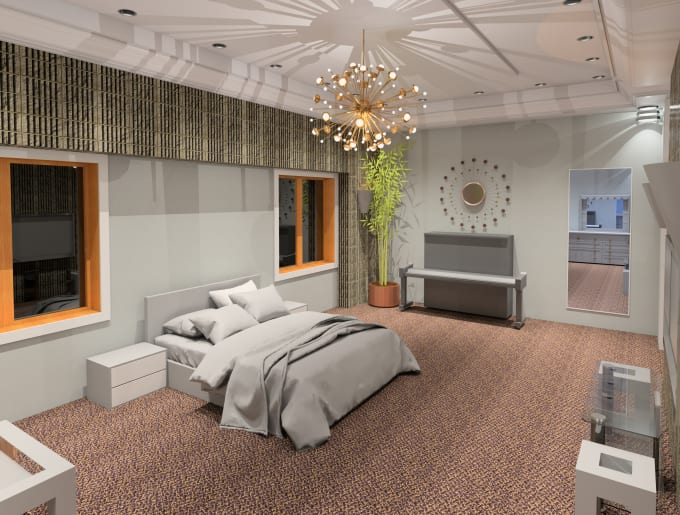 do interior design and render by revit