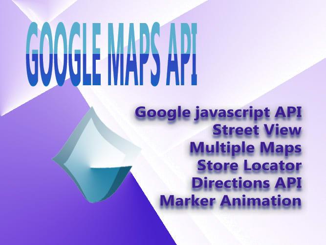 implement google maps java script API in your website