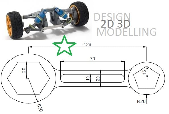 Design 2d and 3d model of your drawings by Inadmad