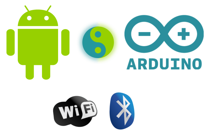 control arduino using android app by bluetooth or wifi