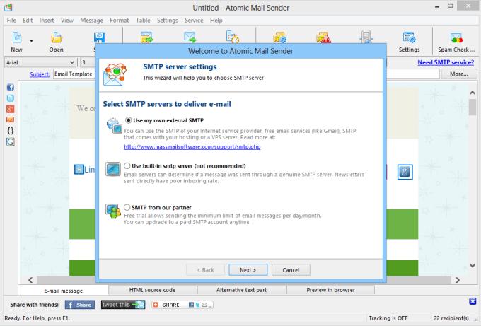 install setup and configure powermta SMTP