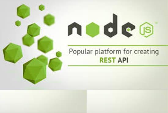 create API in nodejs and expressjs with mongodb of mysql