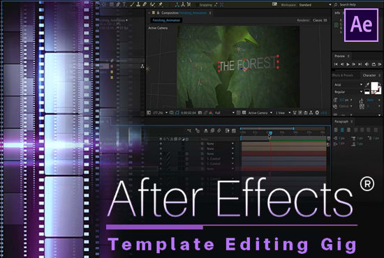 Edit Any After Effects Template Professionally By Designthrive - After effects template editing