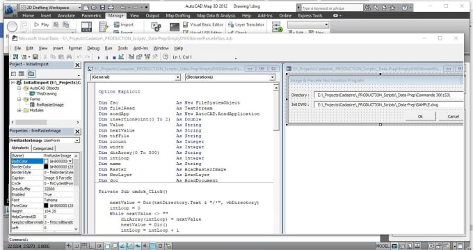 do vba plugins for tools like excel, autocad, arcgis