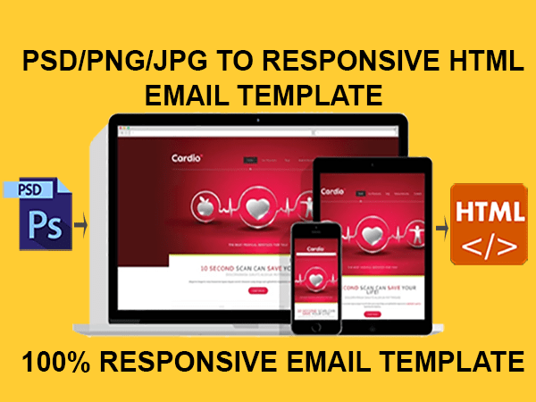 Code and design psd to responsive html email template by Afzal84