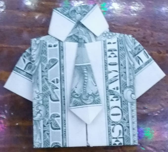 Make You A Origami Shirt With Tie From A One Dollar Bill By Ryanjones261