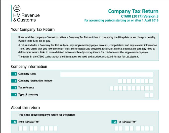 prepare UK small and micro entity tax return