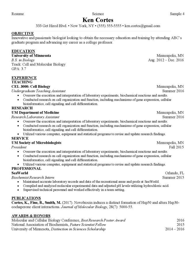 Edit Your Curriculum Vitae For Graduate School By Daponteblogs