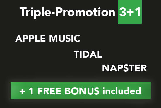 add your songs on my apple tidal napster promo playlists
