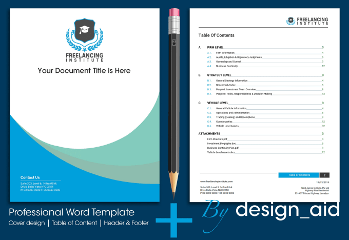 Design Ms Word Template More Professionally