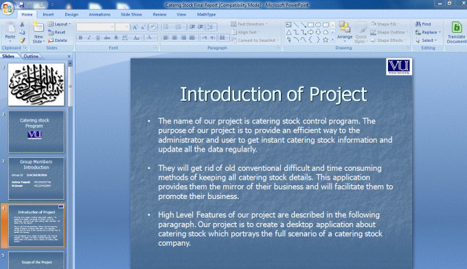 make power point presentation for your projects