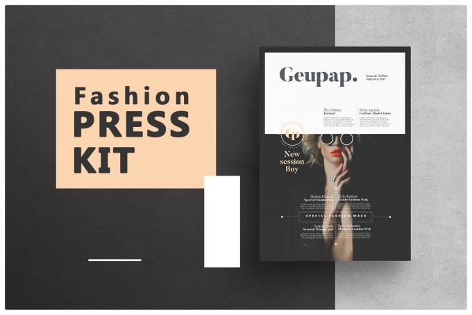 create an exceptional media press kit and epk design by