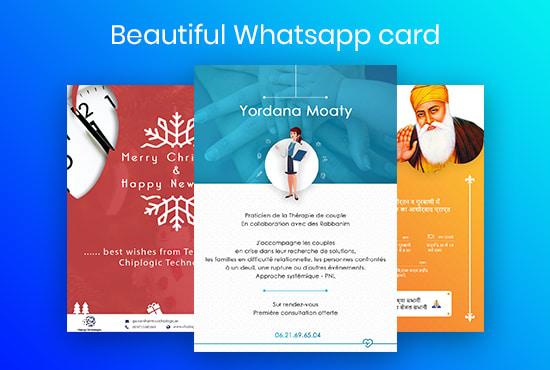 I Will Create Birthday Wedding Whatsapp Card And Invitation