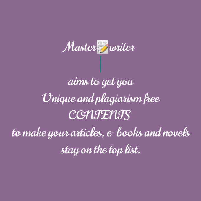 create and deliver unique and plagiarism free contents
