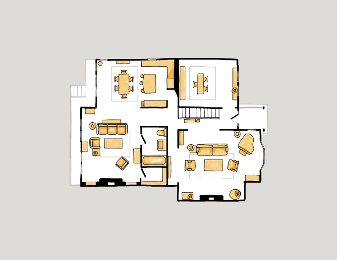 create a home or office floor plan of your favorite tv show by