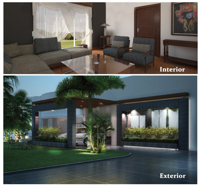 Create Your 48d48d Interior Exterior Design By Asimdesign48 Beauteous 2D Interior Design Exterior