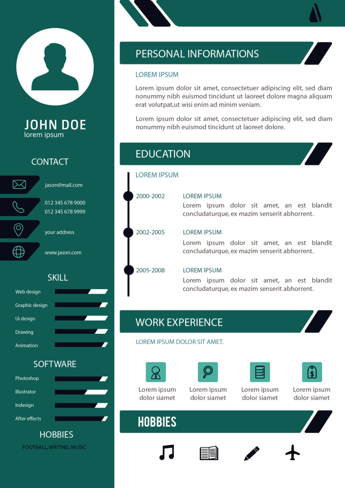 do an attractive cv design  resume design and cover letter by sh nahid