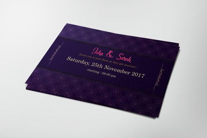 Design Wedding Party Birthday Invitation Card