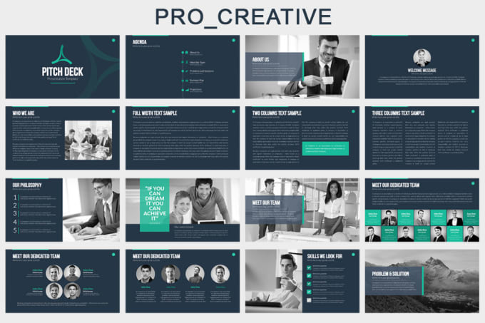 create a modern powerpoint presentation by pro creative
