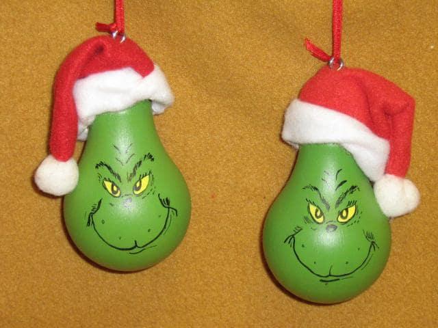 Light Bulb Christmas Ornaments.Design A Grinch Lightbulb Christmas Ornament