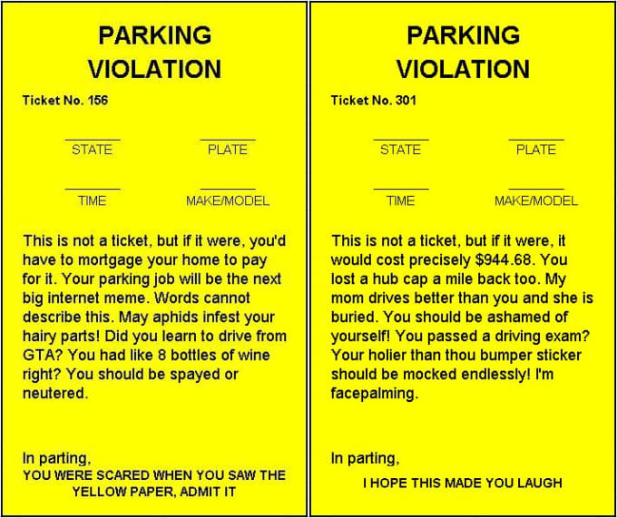 fake parking ticket template pdf
