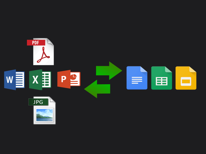 convert pdf word excel jpg to google docs sheets slides by